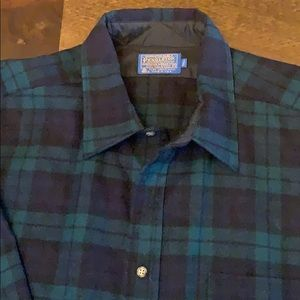 Pendleton wool tartan plaid shirt like new